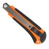 Нож строительный PATRIOT, CKA-182, с выдвижным сегментированным лезвием, автофиксатор, двухкомпонентный пластиковый корпус,18мм, 350004415